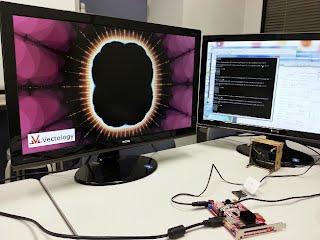ジュリア集合 ARTIX-7 FPGA HD DVI